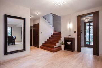 House's spacious hallway