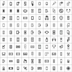 smartphone 100 icons universal set