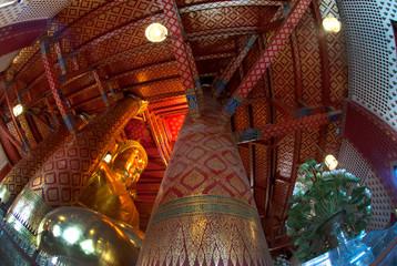 Luang Pho Tho in Wat Phanan Choeng,Ayutthaya,Thailand.