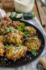 Courgette and Mint Fritters