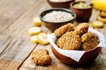 Printed roller blinds Cookies oats pumpkin and sunflower seeds banana cookies. gluten-free