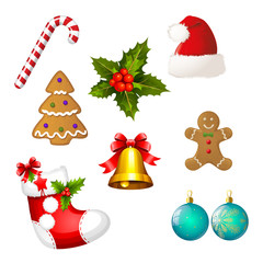 Collection of Christams  icon - cliparts