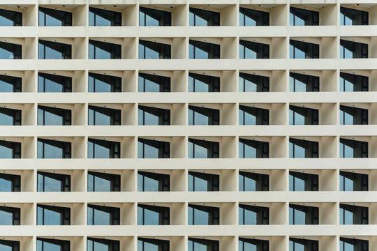 Multiple windows pattern on a office building