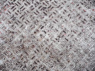 heavy duty rusty metal background with non slip repetitive patte