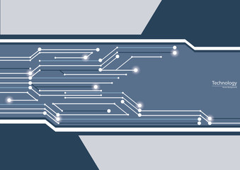 Digital Technology Circuit Vector Background