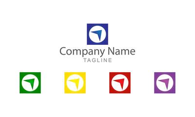 Block Arrow Logo Vector