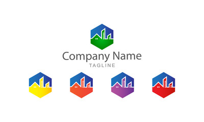 Building City Property Logo Vector