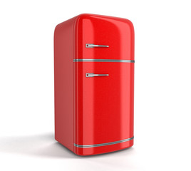 Retro refrigerator. Image with clipping path