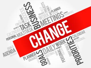 Change word cloud business concept