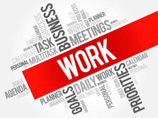 Work word cloud business concept