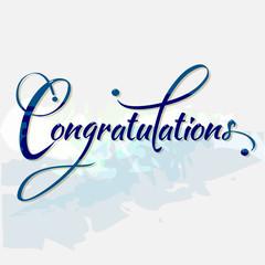 Congratulations calligraphy. Vector. Eps10.