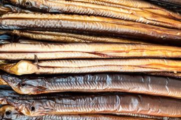 Smoked eels
