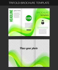 Corporate business stationery template. Abstract trifold