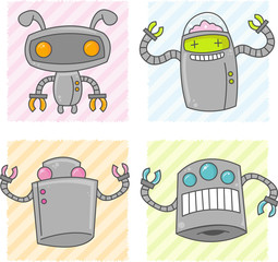 Cute Cartoon Robots
