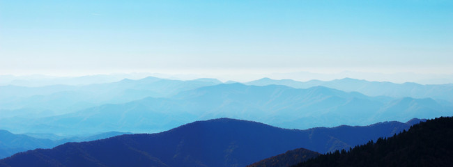 mountain view in Smoky Mountain National Park