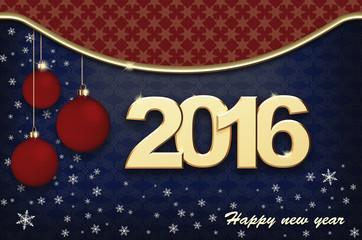 New Year. Christmas Card 2016