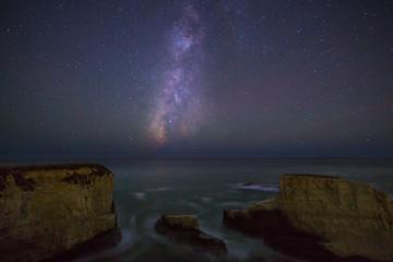 Milky Way over the Pacific ocean, California