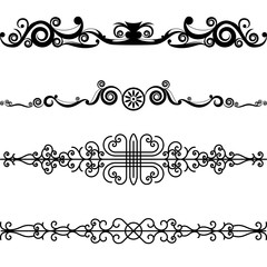 Vector Set Border Design Element