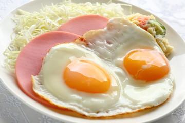 Foto op Canvas Gebakken Eieren 目玉焼き