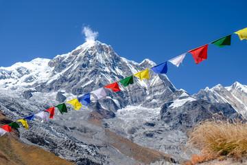 Fotobehang Nepal prayer flags