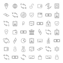 Finance icons, vector illustration.