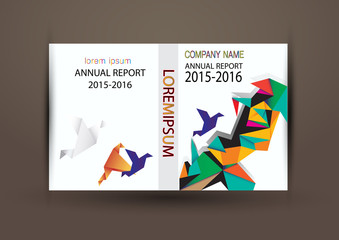 Annual report cover ,Cover report colorful design background, vector illustration