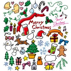 落書き_クリスマス_白