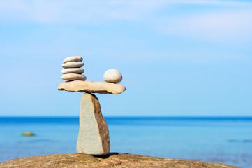 Balancing of white stones