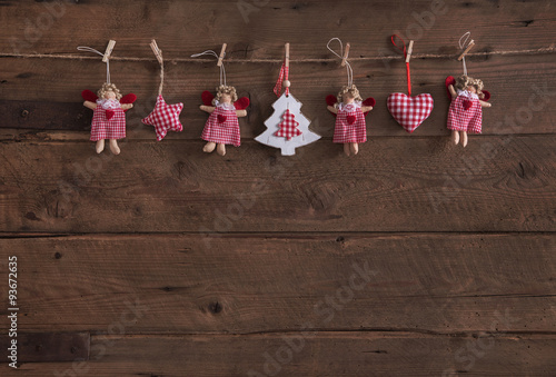 Rustikale Dekoration rustikale dekoration zu weihnachten weihnachtskarte mit rot weiß