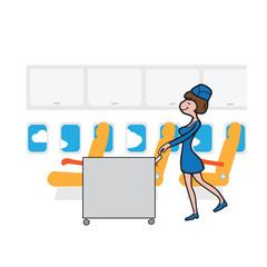 Air hostess cabin attendant