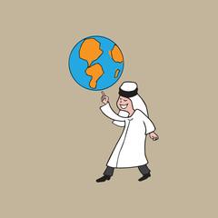 Islam Arab globe