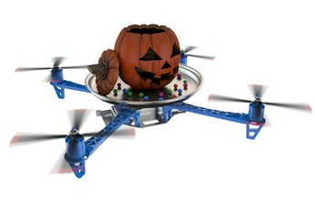Trick or treat halloween drone