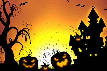Scary halloween background