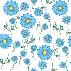 blue daisy on a white background