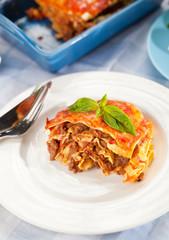 Frischgemachte Lasagne