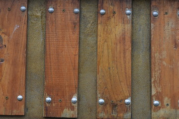 Wood Fence with Metal Pins
