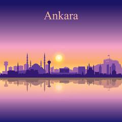 Ankara city skyline silhouette background