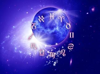 Wall Mural - Zodiac and universe