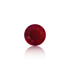 ruby, red sapphire isolated logo, icon, background for gems and jewelry company