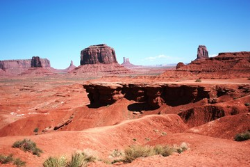View from the John Ford Point in Monument Valley, USA