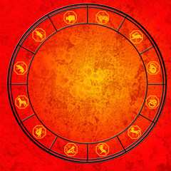 Chinese horoscope chart with all signs