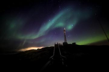 Greenlandic northern lights over Nuuk