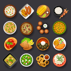 dishes icon set-4