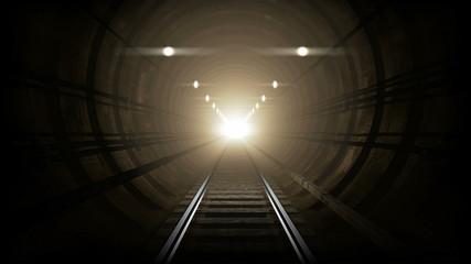 Subway underground corridor