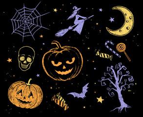 Halloween drawings.