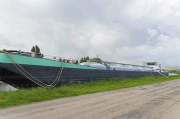 barge in canal