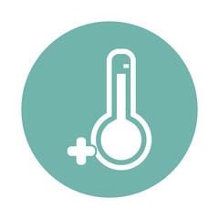 Temperature above zero icon