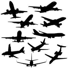 airplane silhouettes