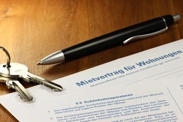 Mietvertrag für Wohnungen