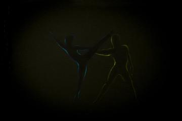 pair dance in the ballet